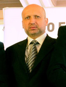 Acting President Turchynov was elected to Parliament in 1998. (source: Christianity Today)
